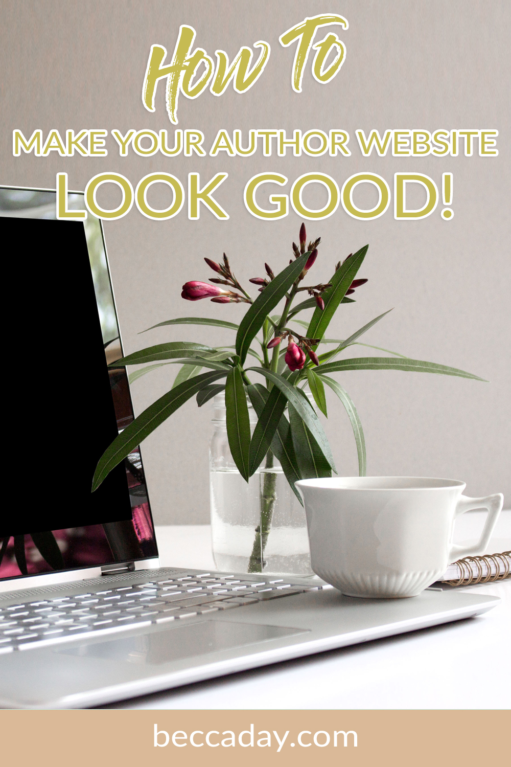 how to make your author website look good