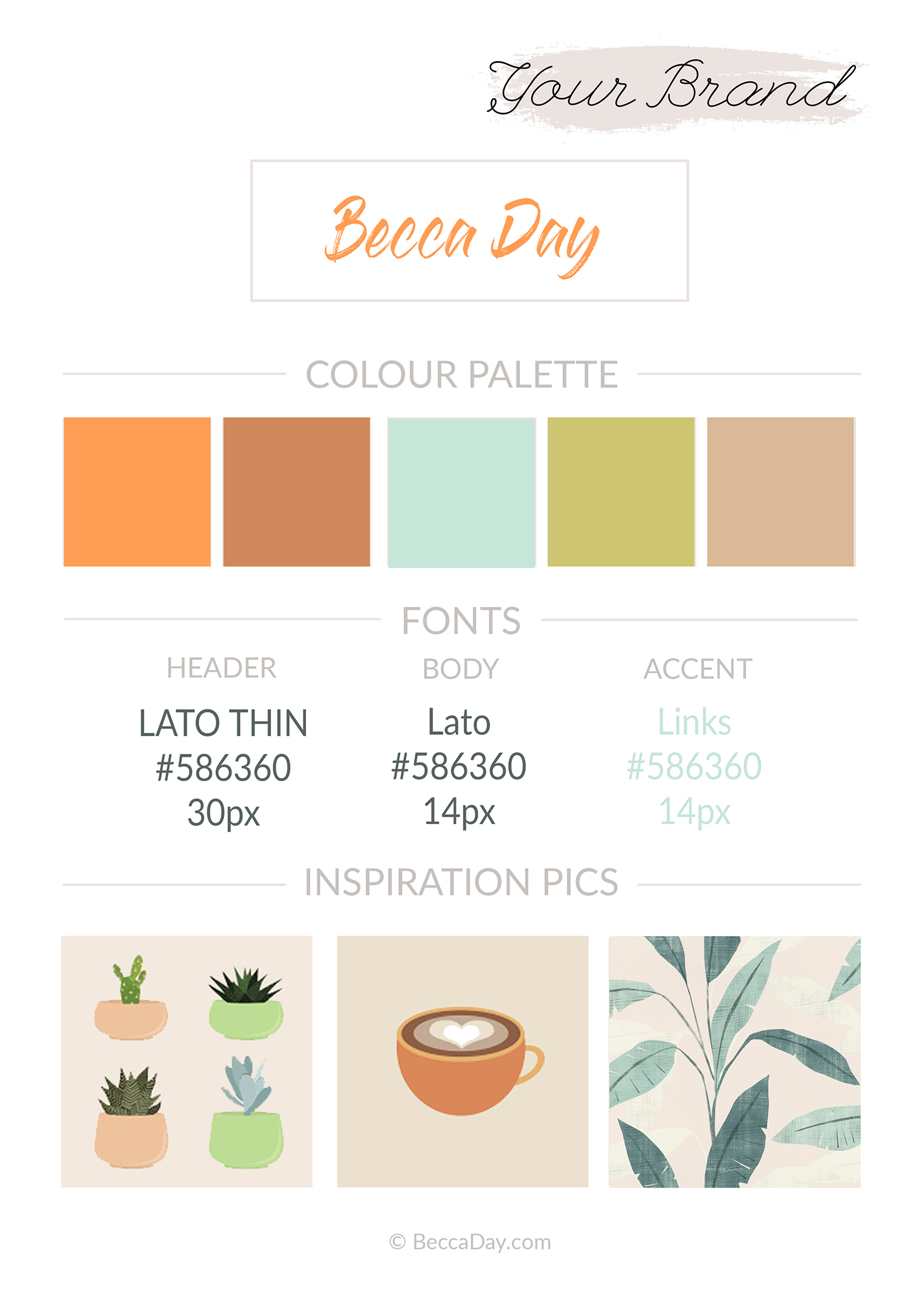 Author website branding style guide template