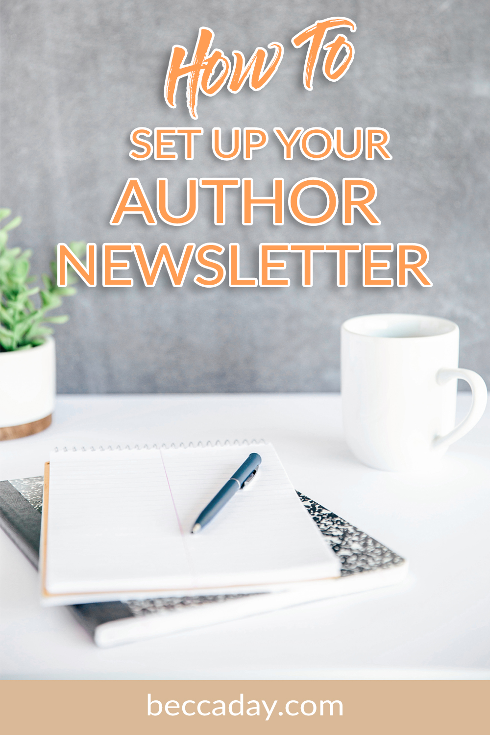 How to set up your author newsletter