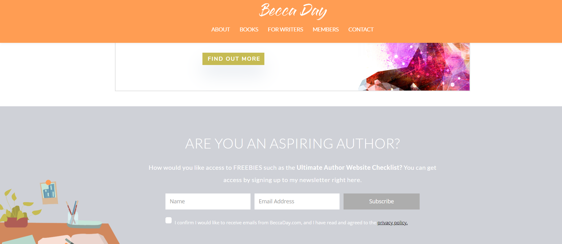 example of an author website opt in incentive