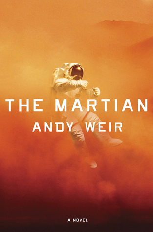 The Martian by Andy Weir book cover which shows an astronaut on Mars